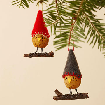 Almond Bird Ornaments