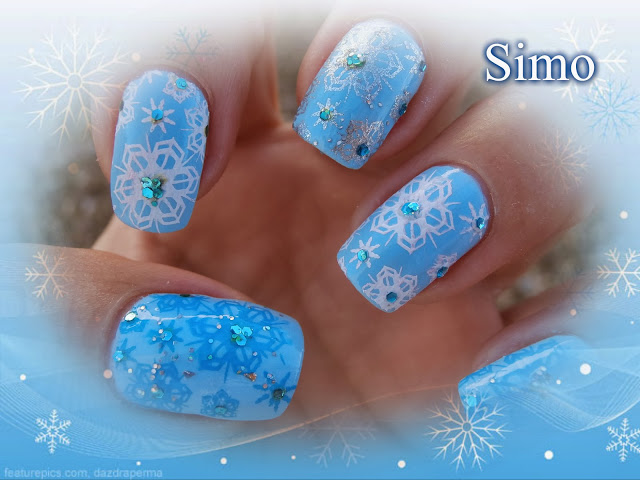 Baby Blue Snowflakes