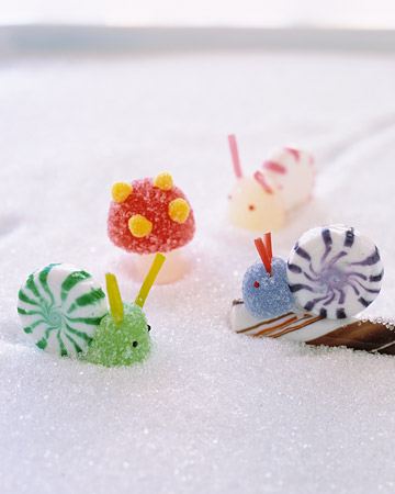 Candy Snails and Mushrooms