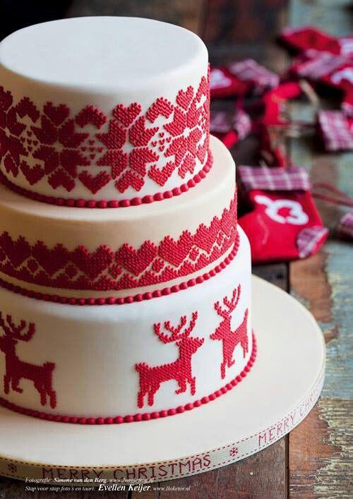 Cross Stitch Embroidery Cake