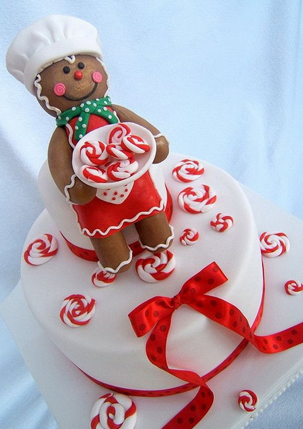 Gingerbread Man and Candy Swirls