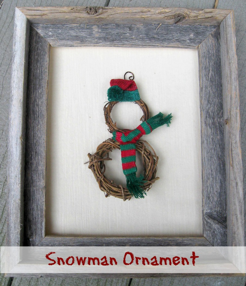Grapevine Snowman Ornament