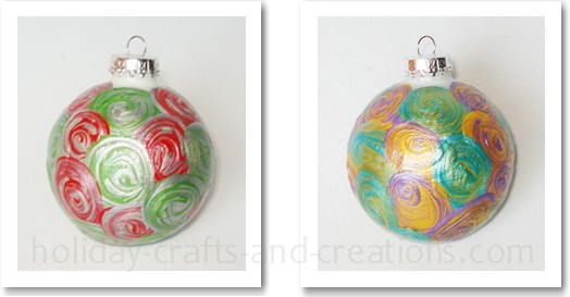 Painted Swirl Ornament
