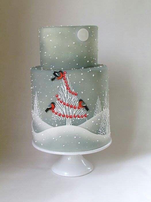 Winter Birdies Cake
