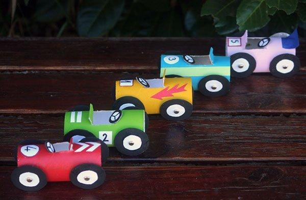 Cardboard Race Cars Pic