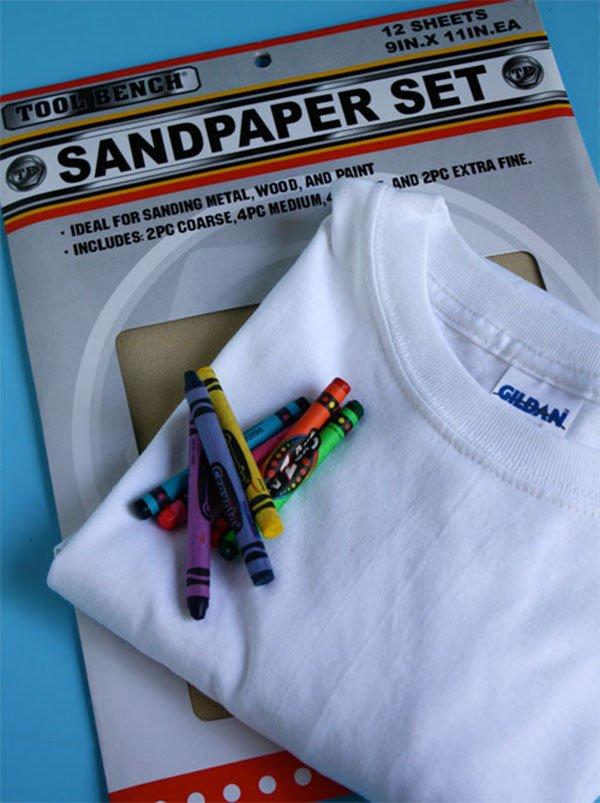 Sandpaper Printing T Shirts