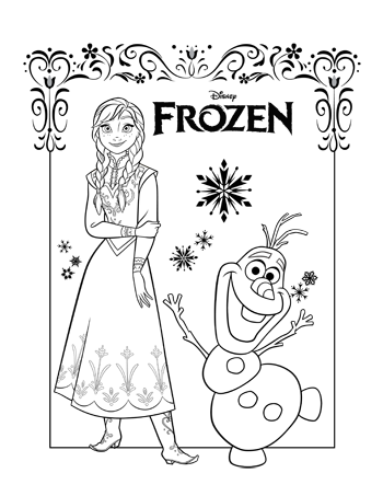 multi-character-2-frozen-colouring-pages
