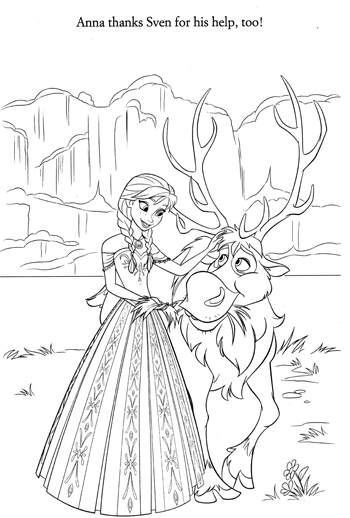 multi-character-7-frozen-colouring-pages