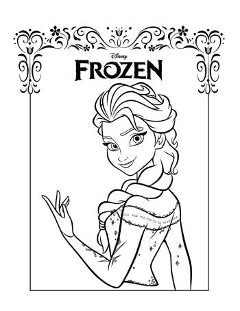 elsa4-frozen-colouring-pages