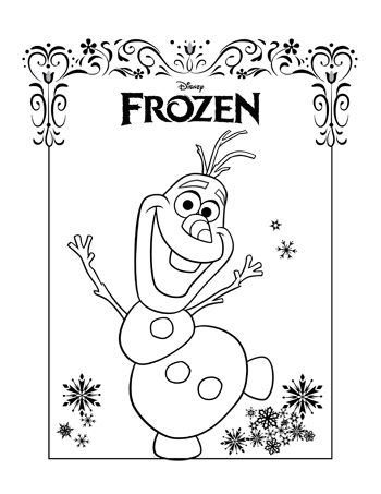 olaf1-frozen-colouring-pages
