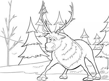 sven2-frozen-colouring-pages