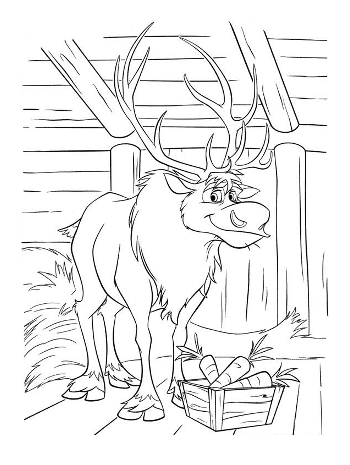 sven1-frozen-colouring-pages