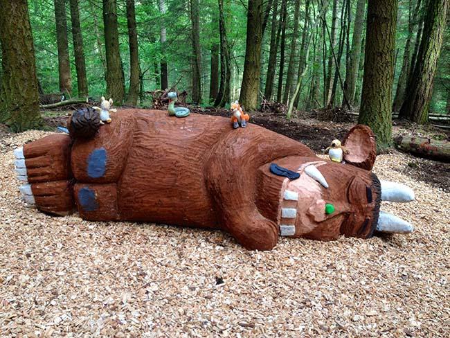 Sleeping Gruffalo at Wyre Forest!