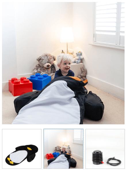 LittleLife Penguin Kids Childrens Sleeping Bag