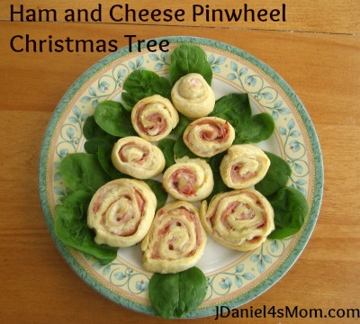 Ham and Cheese Pinwheel Christmas Tree