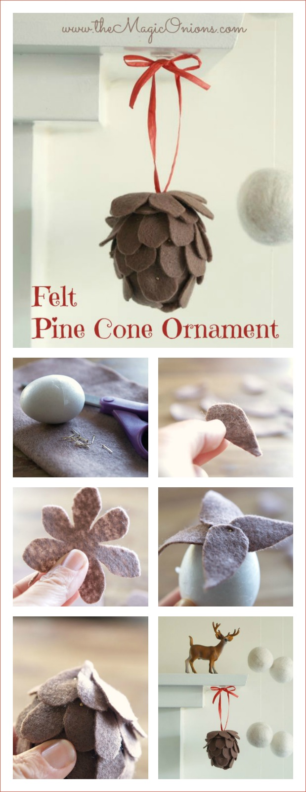 No-Sew-Felt-Pine-Cone-Christmas-Ornament